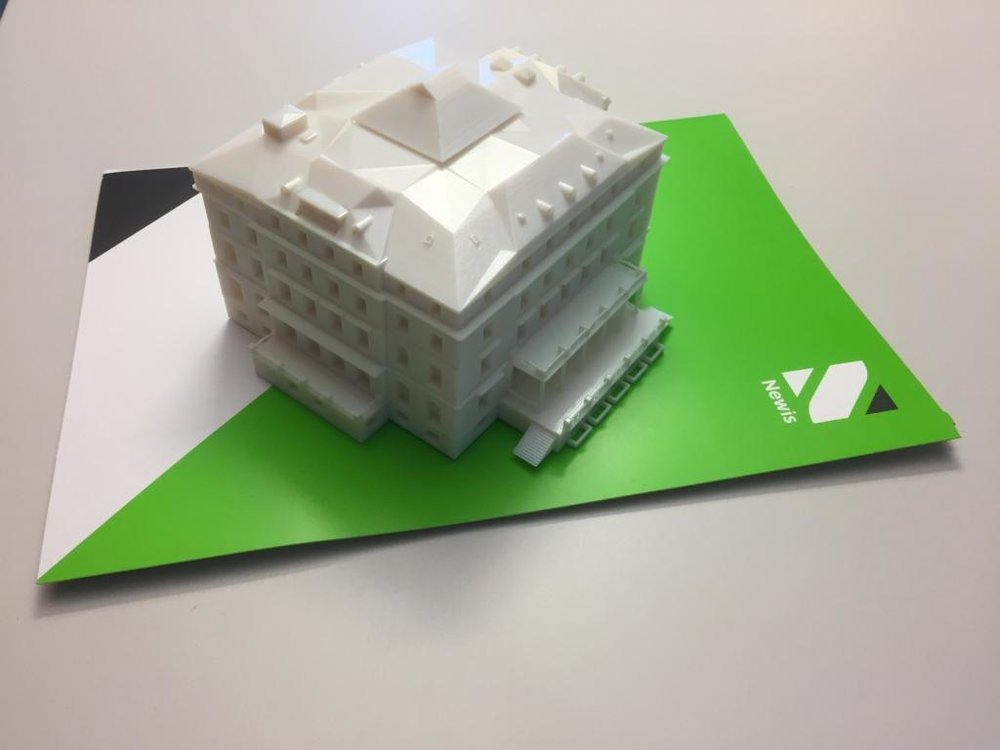 Bank. 3D plastic printing from BIM model
