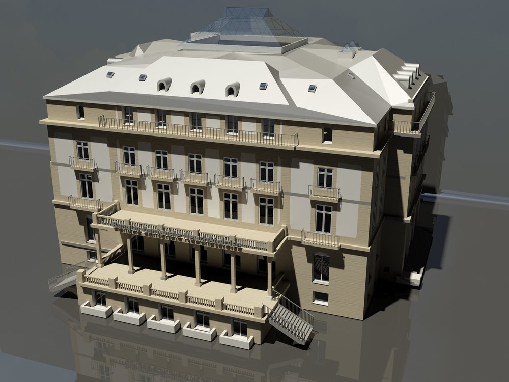 Bank. Autodesk Revit modelisation